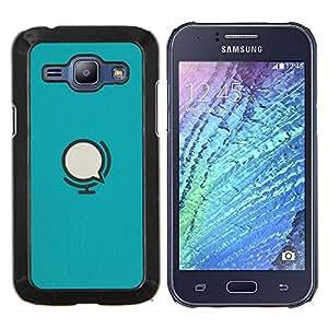 Caucho caso de Shell duro de la cubierta de accesorios de protección BY RAYDREAMMM - Samsung Galaxy J1 J100 - Micrófono