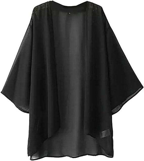 Amazon.com: NEW-EC - Kimono de gasa para mujer, chaquetas ...