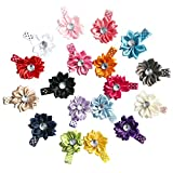 18pcs Baby Girls Silk LILY Hair Flower With Rhinestone Alligator Clips For Summer offers