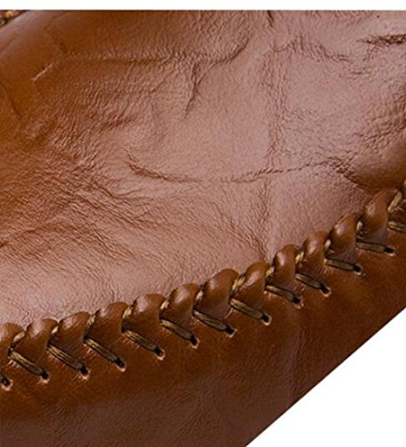 Set Pigre da di Uomo Scarpe di Scarpe Moda Piselli Scarpe Traspirante Piedi Darkbrown 8xHqq4wR