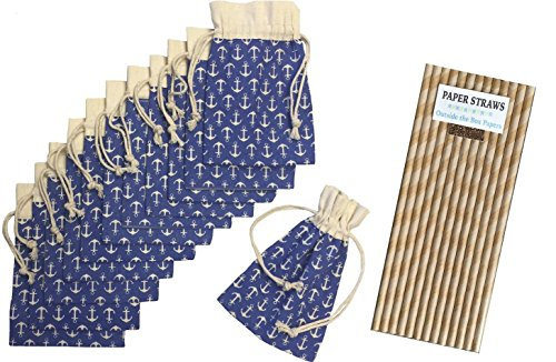Brown Striped Paper Bags - 7