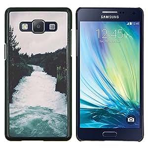 LECELL--Funda protectora / Cubierta / Piel For Samsung Galaxy A5 A5000 -- Naturaleza Bosque Gris Cielo Árboles --