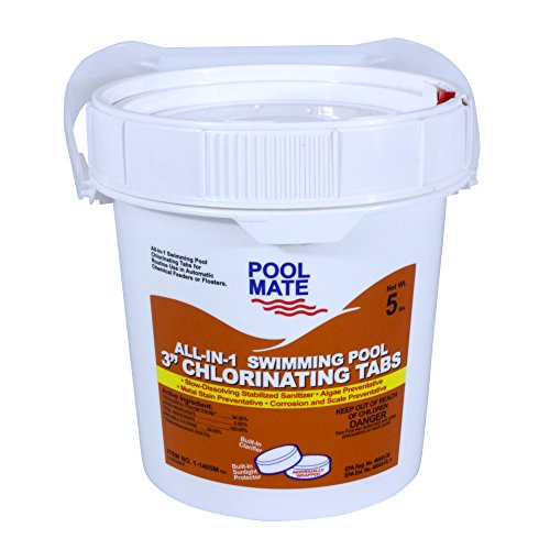 Pool Mate 1-1405M All-in-1 Swimming Pool 3-Inch Chlorinating Tablets, 5-Pound -  Robelle Industries