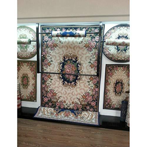 (Jacquard Carpet for Living Room/Dining Bedroom Mat Floral Modern Pattern Absorbent Non-Slip Modern Carpet Mug)