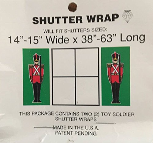 Christmas Toy Soldier Home Shutter Wrap Decoration