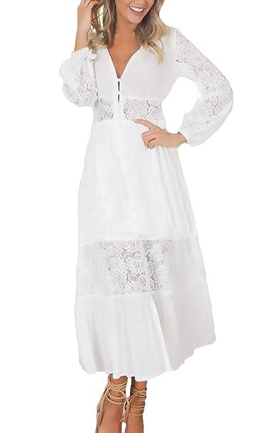 Vestido blanco largo verano