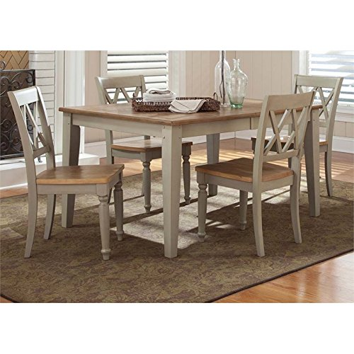 Liberty Furniture Al Fresco 5 Piece Dining Set in Driftwood and Taupe -
