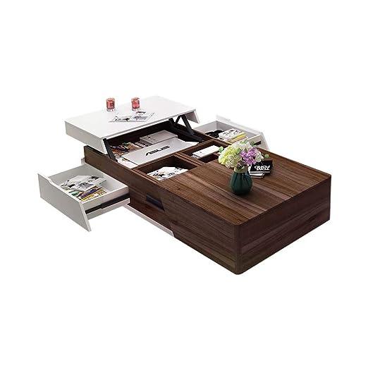 Mesa de centro elevable, mesa auxiliar de sofá de alto brillo ...