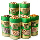 Oh! Nuts® Mixed Nuts Holiday Gift Box Premium Snack Bags Assortment Gourmet Food Varieties 30 Oz - Prime Snack Delivery