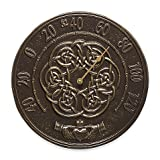 Whitehall Products Irish Blessings Indoor/Outdoor Wall Thermometer in French Bronze