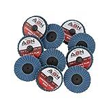 "ABN 2"" T27 120 Grit High Density Zirconia Alumina Flat Flap Disc Roloc Roll Lock Grinding Sanding Sandpaper Wheels 10 PK"