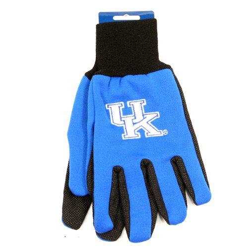 NCAA Kentucky Wildcats Two-Tone Gloves, Blue/Black - Tone Blue Cats