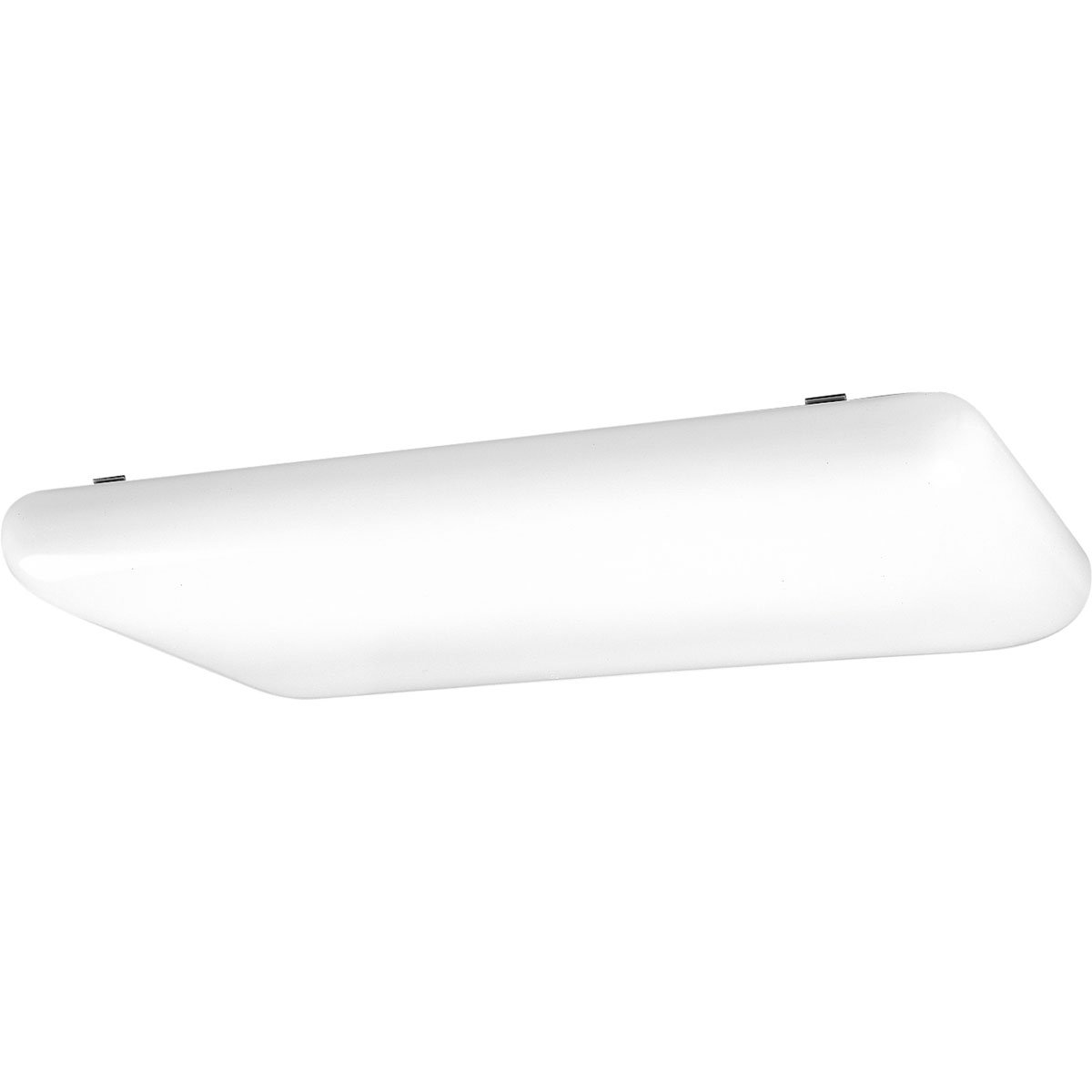 Progress Lighting P7278-60EB Contoured, Shallow White Acrylic Clouds Diffuser Suspended From White Chassis 120 Volt High Power Factor Electronic Ballast, White