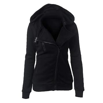 ba520d8091bee9 Swallowuk Hoodies Damen Casual Kapuzenpullover Sweatshirt Pullover Tops  Slim Fit Langarmshirt Outerwear mit Kapuze Sweatjacke Sports