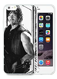 walking dead (2) White TPU Case for iPhone 6 Plus (5.5),Prefectly fit and directly access all the features