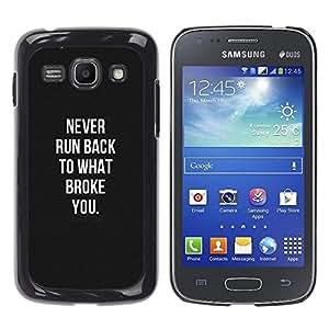 Caucho caso de Shell duro de la cubierta de accesorios de protección BY RAYDREAMMM - Samsung Galaxy Ace 3 GT-S7270 GT-S7275 GT-S7272 - White Remember Hurt