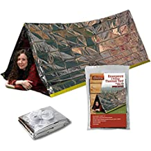 Grizzly Gear Emergency Survival Mylar Thermal Reflective Cold Weather Shelter Tube Tent - XL SIZE Fits 2 Adults - 8' X 3'