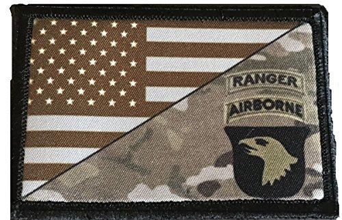 Airborne Ranger Multicam USA Flag Morale Patch Tactical Mili