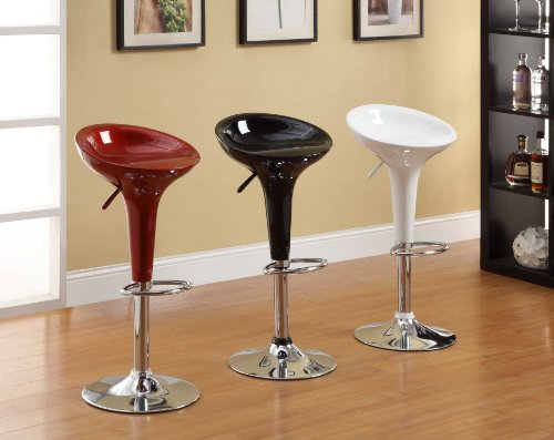 Homelegance 1145blk hydraulic swivel barstool black set of 2 home and barstool store Home bar furniture amazon