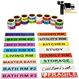 Home Moving Labels Stay Organized and Save Time, Make Unloading The Boxes into New House Much Easier, 960 Stickers with Fragile Labels