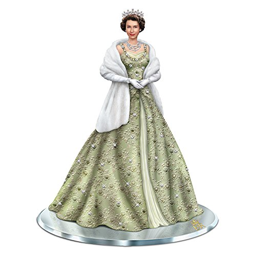 Queen Elizabeth Tiara - Handcrafted Queen Elizabeth II Collectible Figurine with 90 Swarovski Crystals by The Hamilton Collection