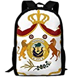 ZQBAAD Coat Of Arms Of The Kingdom Of Iraq Luxury Print Men And Women's Travel Knapsack