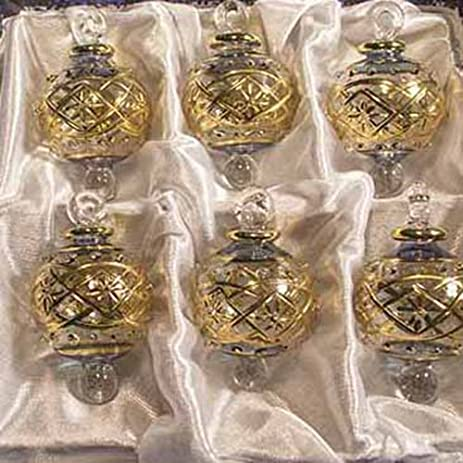 14k Gold Decorated Egyptian Glass Christmas Ornaments - Set of 6 - Amazon.com: 14k Gold Decorated Egyptian Glass Christmas Ornaments
