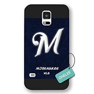 MLB Team Milwaukee Brewers Logo For Case Samsung Galaxy S5 Cover & Cover - Black Frosted