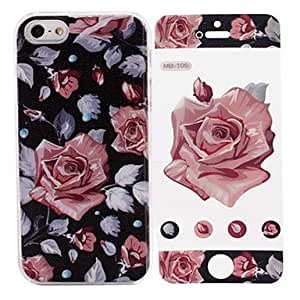 LZX Pink Rose Pattern While Calling Or Called Lightning Flash Led Case for iPhone 5/5S