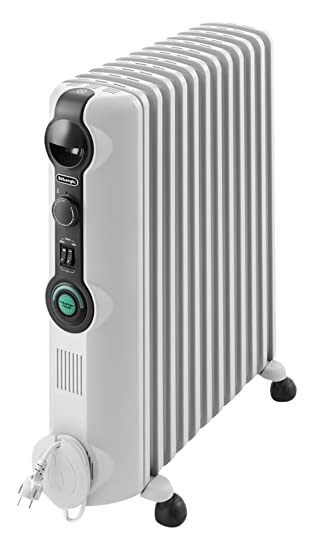 Delonghi RADIA S Radiador con Comfort-Temp, 7 Elementos, Blanco y Negro: Amazon.es: Hogar