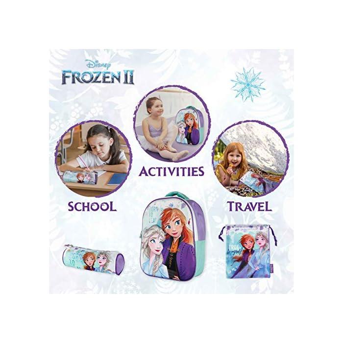 51mI9MS2ljL ❄️ PACK 3 PRODUCTOS ESCOLARES – Diseño Frozen 2. Ideal para niñas a partir de 3 años. Distintas medidas para diferentes usos a lo largo del día. Mochila escolar con tirantes: 26 x 31 x 10 cm. Bolsa de merienda: 26,5 x 21,5 cm. Estuche escolar: 21,5 x 7,5 x 7,5 cm. Material tela de poliéster resistente y ligero. Todos los productos son fáciles de usar para los niños ❄️ MOCHILA ESCOLAR INFANTIL – Parte frontal de la mochila con diseño en 3D de Patrulla Canina creando divertidos detalles e impactantes efectos de colores. El tamaño es idóneo para niñas de 3 a 6 años, para usar en el colegio o actividades extraescolares. Las tiras pueden regularse y ajustarse según la altura del niño ❄️ BOLSA PARA MERIENDA – Con cierre de cuerdas a los lados. En colores verdes y morados con dibujo de Elsa y Anna. Esta mochila infantil es ideal para meter el almuerzo o merienda de los niños, también se puede usar en parvulario o para guardar juguetes. Su diseño de cuerdas permite que los niños puedan abrir y cerrar la mochila ellos solos