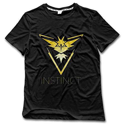 Team Instinct (Pokemon GO Inspired) - Yellow Vinyl Decal Blouse Top For Men Short Shirt - Vinyl Mens Shorts