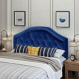 Christopher Knight Home 303587 Killian Velvet Queen/Full Headboard, Navy Blue + Black