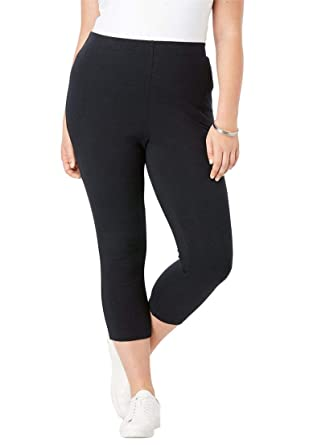 a176c158dc1 Roamans Women s Plus Size Essential Stretch Capri Legging at Amazon Women s  Clothing store