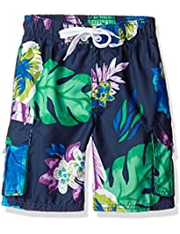 Boys' Papagayo Floral Swim Trunk