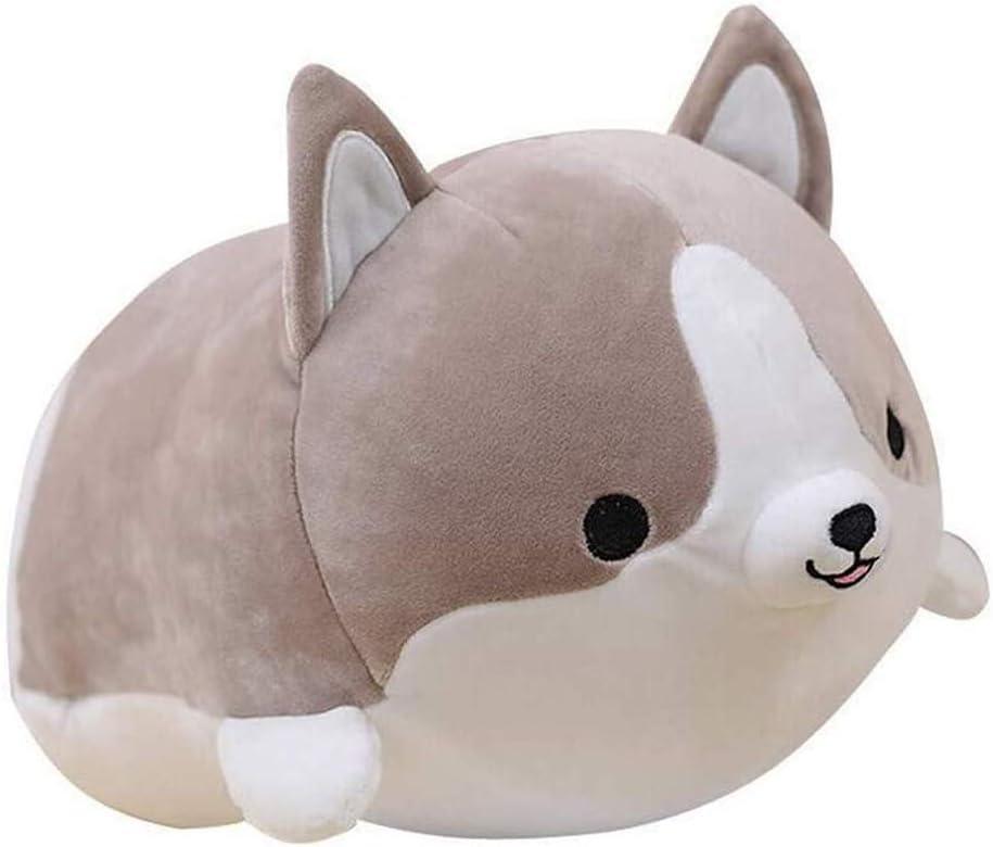 Soft Hug Plush Pillow, ONXE Cute Pig Pillow Round Chubby Animal Pillow Stuffed Cotton Animal Plush Toy, 13.8'' Doll Toy for Kids Girlfriend (Grey)