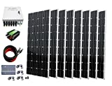 ECO-WORTHY 1300W Off Grid Monocrystalline Solar Panel Kit: 8pcs 160W Mono Solar Panels + 45A Charge Controller + PV Combiner Box + MC4 Solar Cables Adaptors + Solar Panel Mounting Brackets ECO-WORTHY Solar Power And Accessories