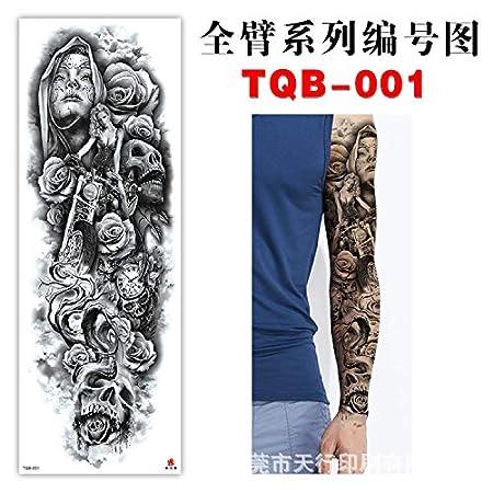 tzxdbh 5Pcs-Full Arm Tattoo Stick Arm Ambiental Impermeable Europa ...