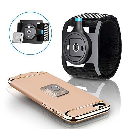 Newest Cell Phone Armband Universal Portable holder with Easy On/Off & Reflective Strap, Sports Running Exercise Arm Band for iPhone 7/7 Plus/6/6s Plus/5/5s/5c/se, Samsung Galaxy S8 S7 S6 or Any Phone