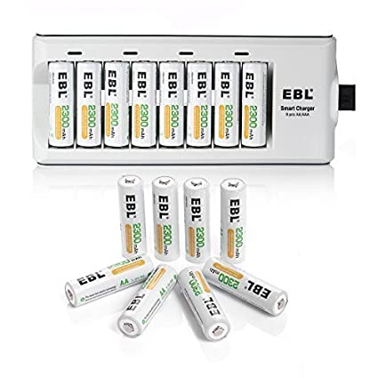 Amazon.com: EBL 16 Pack 2300 mAh baterías recargables AA con ...