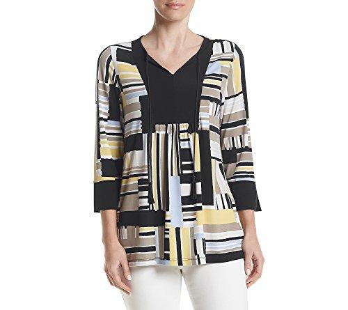 jones-new-york-womens-allover-stripe-3-4-slv-tunic-multi-combo-m