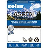 Boise ASPEN Presentation Copy/Laser Paper, 96 Brightness, 24 lb, Letter Size (8.5 x 11), 500 Sheets (BPL-2411RC)