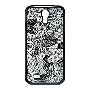 {FLORAL PATTERN Series} Samsung Galaxy S4 Cases 54cfcdd7aabf5cf4ef8a9c245ad93fe2, Case Vety - Black