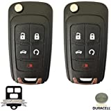 Remote Store OHT01060512 / 13504199 A Pair of New Uncut 5-Button Keyless Entry Remote Key Fob Replacement with Duracell Battery