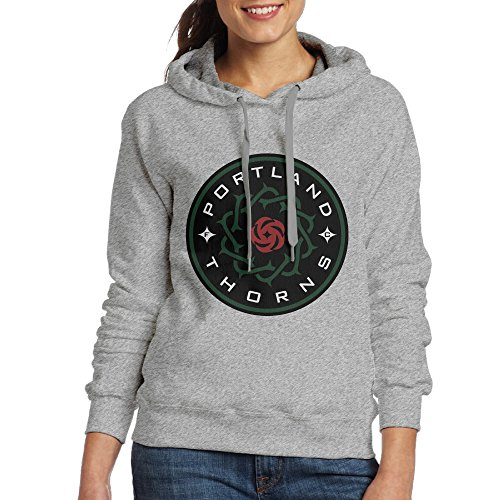 Bekey Women's Portland Thorns FC Hoodie Jacket M Ash