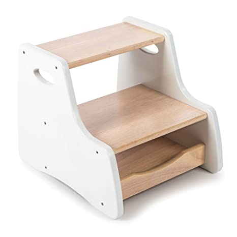 Excellent Tidlo Wooden White Step Stool Beatyapartments Chair Design Images Beatyapartmentscom