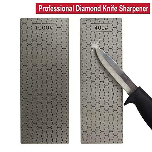 Maslin Professional Ultra-thin 400/1000# Diamond Whetstone Plate Sharpening Stone Chopper Knife Sharpener Grinder Kitchen Grinding Tool - (Grit: Grit 1000)