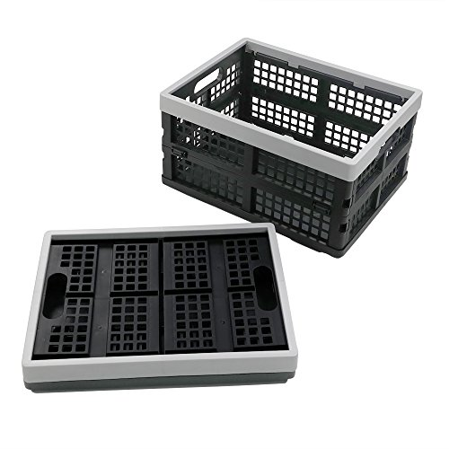 - Doryh 16-Liter Collapsible Storage Crates/Stackable Storage Container Basket, Set of 2