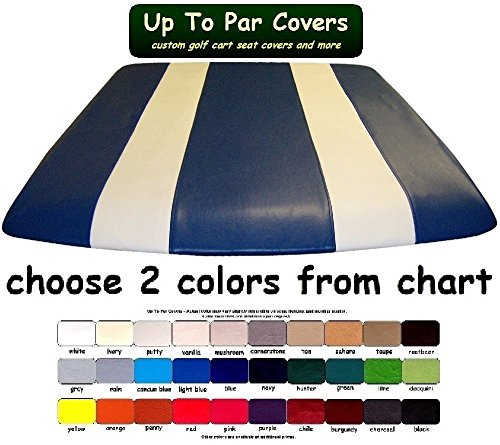 E-Z-Go Club Car Yamaha Two Stripe Golf Cart Custom Vinyl Canopy Cover, Covers Existing Hard Top - (cover only, not hard top) Choose your model and color from colorchart -  Up To Par Covers