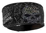 Harley-Davidson Women's Studded Ornate Willie G Skull Knotted Headband HP14630